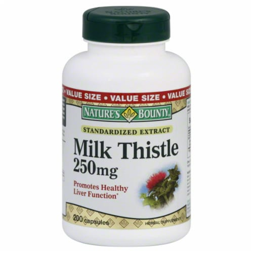 Nature's Bounty Milk Thistle Capsules 250mg Perspective: front