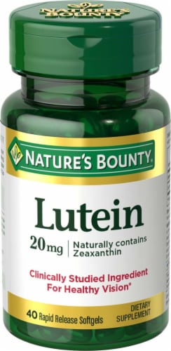 Nature's Bounty Lutein Rapid Release Softgels 20mg Perspective: front