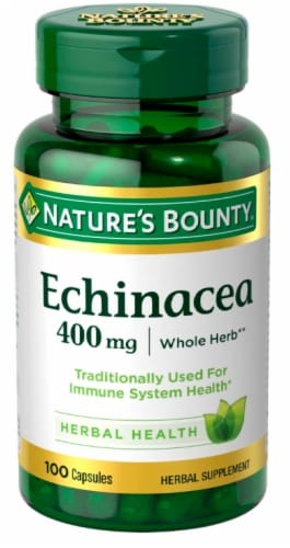 Nature's Bounty Echinacea Capsules 400mg 100 Count Perspective: front