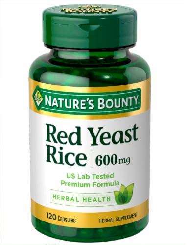 Nature's Bounty Red Yeast Rice Capsules 600mg Perspective: front