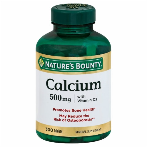 Nature's Bounty Calcium 500mg With Vitamin D3 Tablets Perspective: front