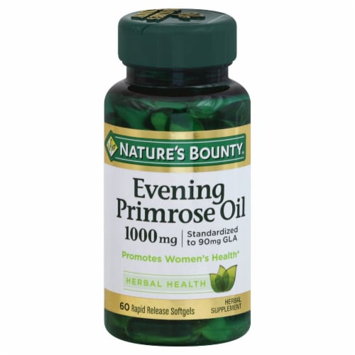 Nature's Bounty Evening Primrose Oil Rapid Release Softgels 1000mg Perspective: front