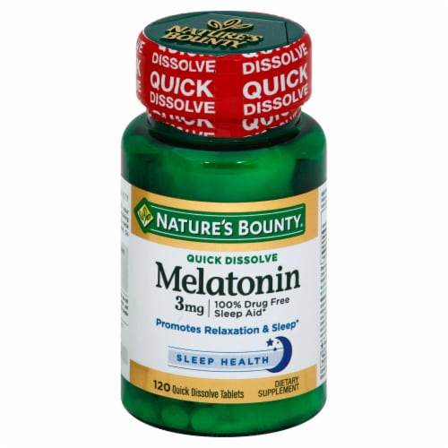 Nature's Bounty Melatonin Quick Dissolve Tablets 3mg Perspective: front