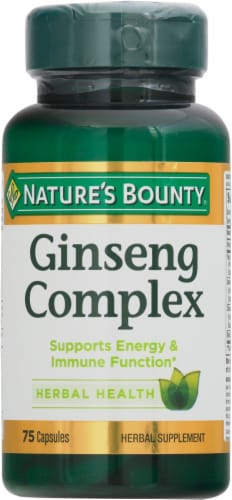 Nature's Bounty Ginseng Complex Capsules Perspective: front