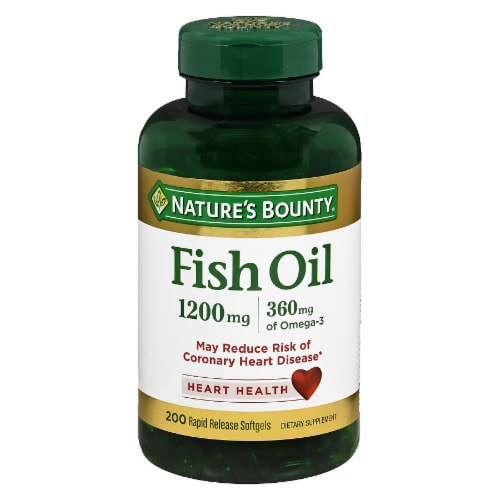 Nature's Bounty Fish Oil Omega-3 Softgels Perspective: front