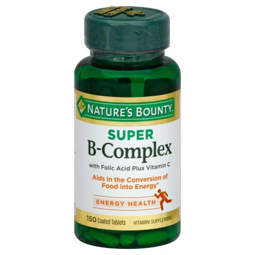 Nature's Bounty Super B-Complex Tablets Perspective: front