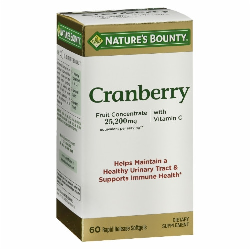 Nature's Bounty Cranberry Rapid Release Softgels 25200mg Perspective: front