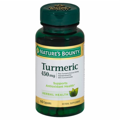 Nature's Bounty Turmeric Capsules 450mg Perspective: front
