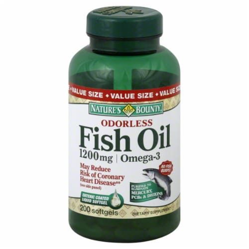 Nature's Bounty Odorless Fish Oil 1200mg Perspective: front