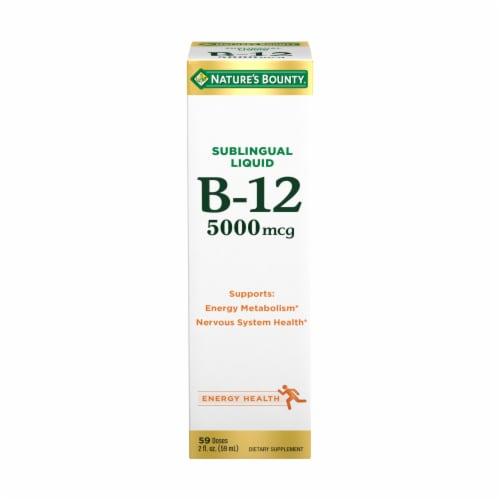 Nature's Bounty Vitamin B12 Sublingual Liquid 5000mcg Perspective: front