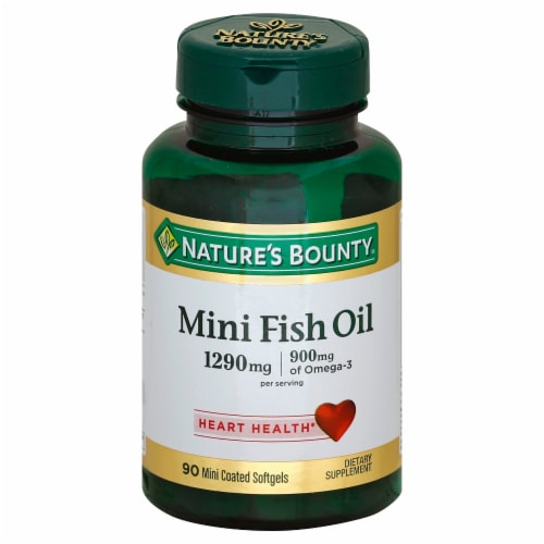 Nature's Bounty Mini Fish Oil 1290mg Softgels Perspective: front