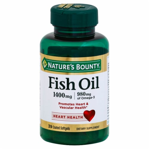 Nature's Bounty Fish Oil 1400mg Softgels Perspective: front