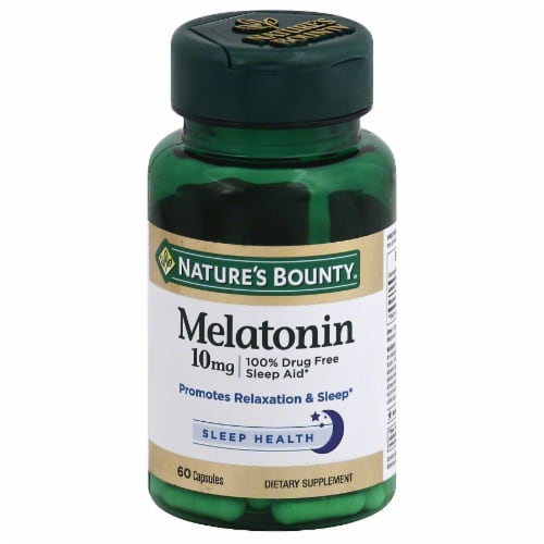 Nature's Bounty Melatonin Capsules 10mg 60 Count Perspective: front