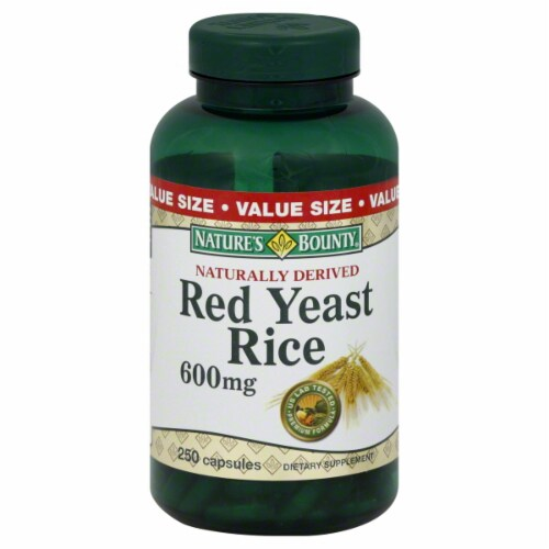 Nature's Bounty Red Yeast Rice 600mg Perspective: front