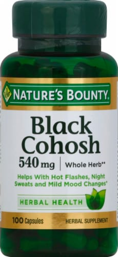 Nature's Bounty Black Cohosh Capsules 540mg Perspective: front