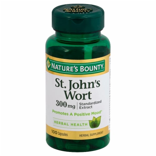 Nature's Bounty St. John's Wort Capsules 300mg Perspective: front