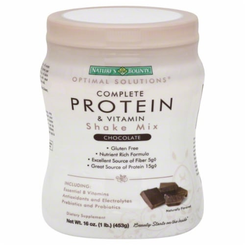 Nature's Bounty Complete Protein & Vitamin Chocolate Shake Mix Perspective: front