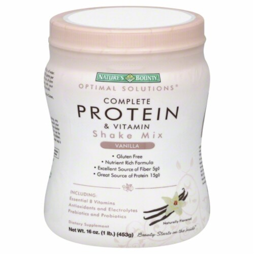 Nature's Bounty Os Protein Shake Vanilla Perspective: front