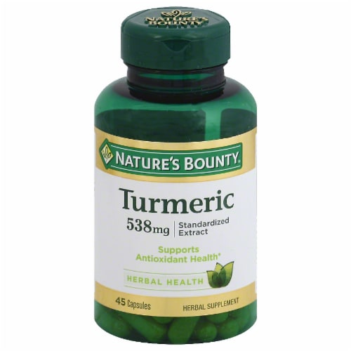 Nature's Bounty Turmeric Extract Capsules 538mg Perspective: front