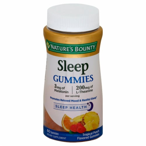 Nature's Bounty Tropical Punch Sleep Gummies Perspective: front