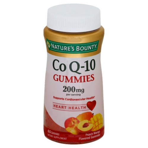 Nature's Bounty Peach Mango Co Q-10 Gummies 200mg Perspective: front