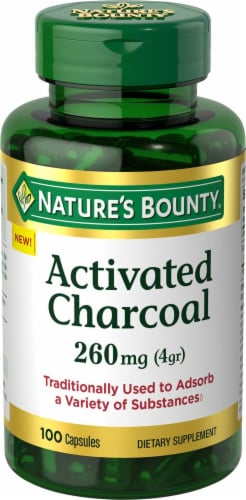 Nature's Bounty Activated Charcoal Capsules 260mg Perspective: front