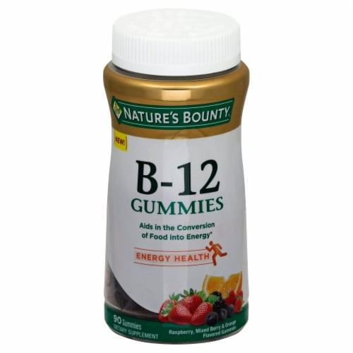 Nature's Bounty B-12 Energy Healthy Gummies Perspective: front