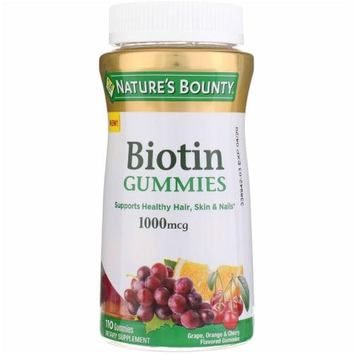 Nature's Bounty Biotin Gummies 1000 mcg Perspective: front