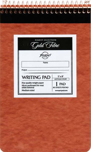 Ampad Gold Fibre Medium Ruled Retro Writing Pad - 80 Sheet Perspective: front