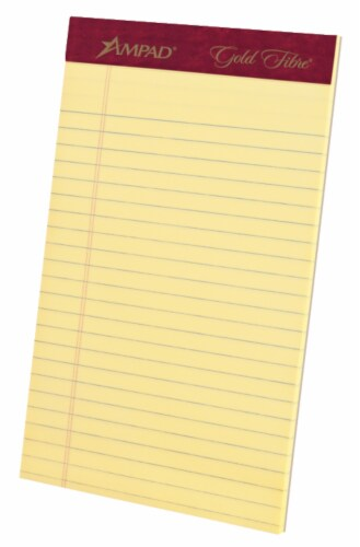 Ampad Gold Fibre Legal Ruled Perforated Pad - 4 Pack Perspective: front