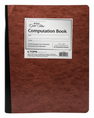 Ampad Gold Fibre Ruled Computation Book - Brown Perspective: front