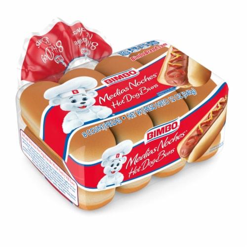 Bimbo Hot Dog Buns 8 Count Perspective: front