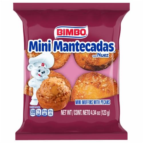 Bimbo Mini Mantecadas Vanilla Pecan Muffins Perspective: front