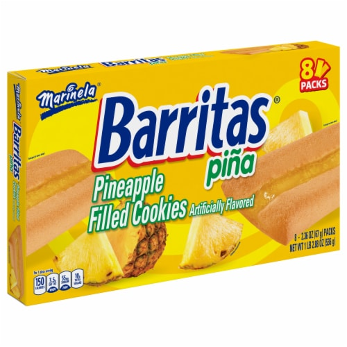 Marinela Barritas Pineapple Filled Cookies Perspective: front