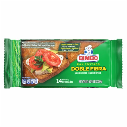 Bimbo® Double Fiber Toasted Bread Perspective: front
