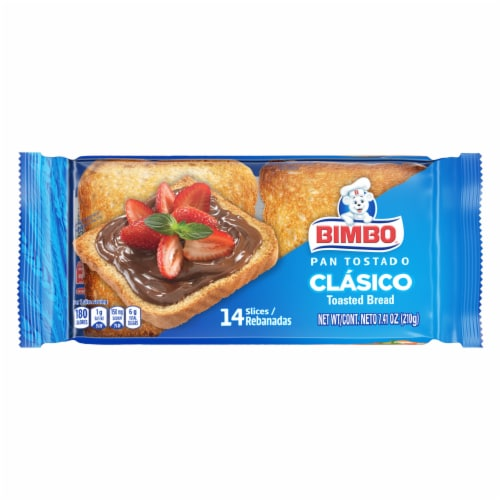 Bimbo White Toasted Bread Perspective: front