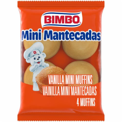 Bimbo Vanilla Mini Mantecades Muffins Perspective: front