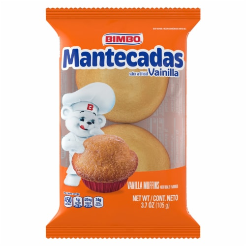 Bimbo Mantecadas Muffins Perspective: front