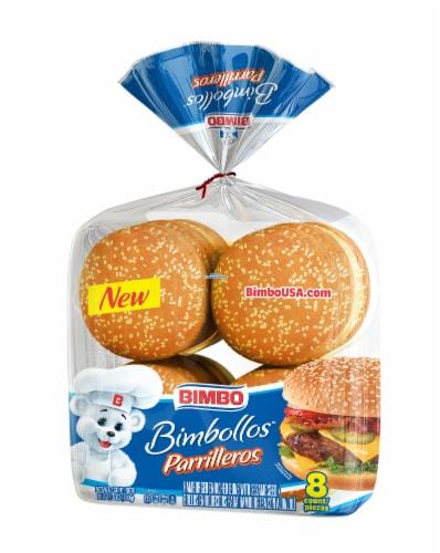 Bimbo Bimbollos Parrilleros Large Seeded Hamburger Buns Perspective: front