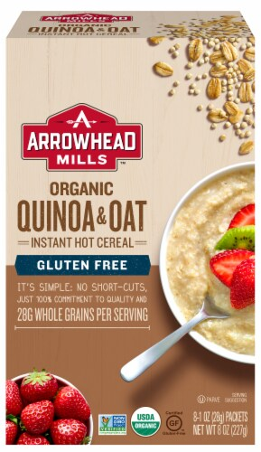Arrowhead Mills Gluten Free Quinoa and Oat Hot Cereal Perspective: front
