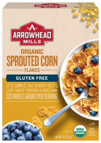 Arrowhead Mills Gluten-Free Sprouted Corn Flakes Perspective: front
