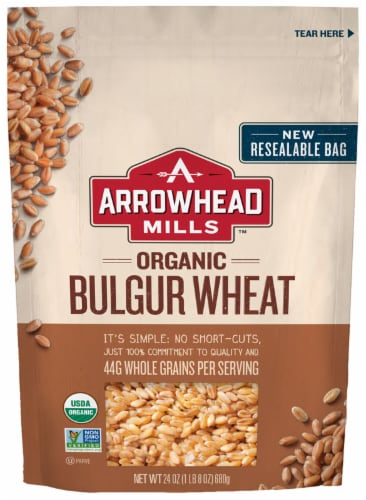 Arrowhead Mills Organic Bulgur Wheat Perspective: front