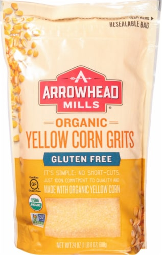 Arrowhead Mills Organic Gluten Free Yellow Corn Grits Perspective: front