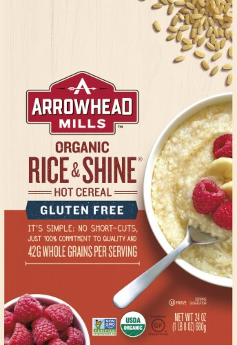 Arrowhead Mills Organic Rice and Shine Hot Cereal Perspective: front