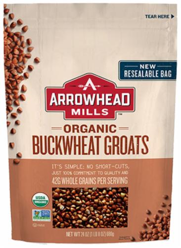 Arrowhead Mills Organic Buckwheat Groats Perspective: front