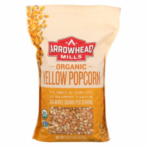 Arrowhead Mills - Organic Popcorn - Yellow - Case of 6 - 28 oz. Perspective: front