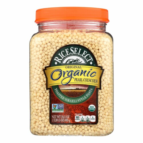 Riceselect Couscous, Pearl, Plain Organic  - Case of 4 - 24.5 OZ Perspective: front