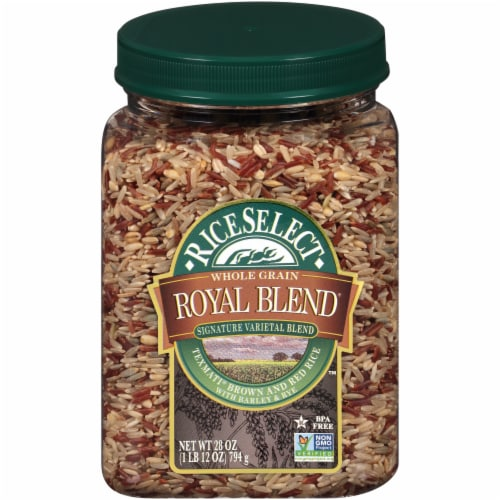 RiceSelect Royal Blend Brown & Red Whole Grain Rice Perspective: front