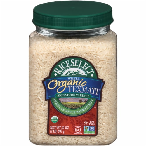 RiceSelect Organic Texmati White Long Grain Rice Perspective: front