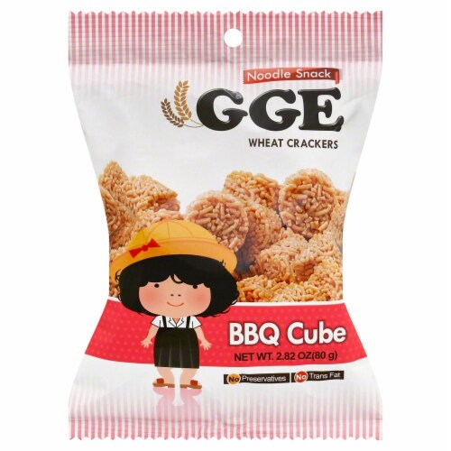 GGE BBQ Cube Wheat Crackers Perspective: front